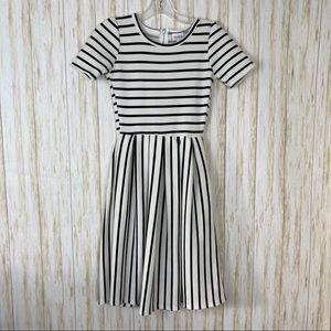 LuLaRoe Amelia Striped Dress XXS
